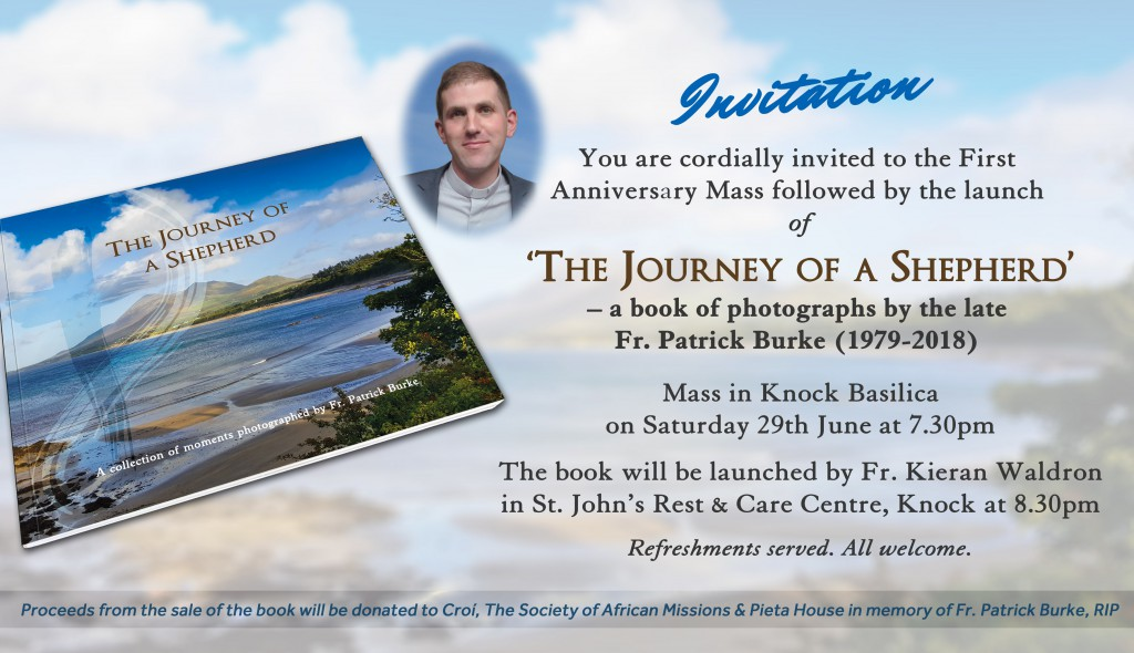 Invitation to Fr Burke's Anniversary Mass & Book Launch
